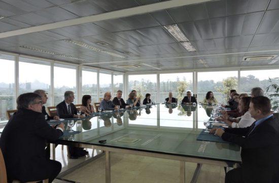 Participaram da reunião representantes das universidades paulistas, da Capes e da Fapesp – Foto: Erika Yamamoto/Assessoria de Imprensa da USP